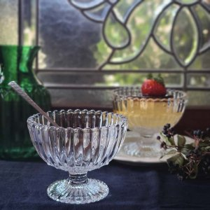 ガラスカップ・ドットフリルカップ・デザートグラス