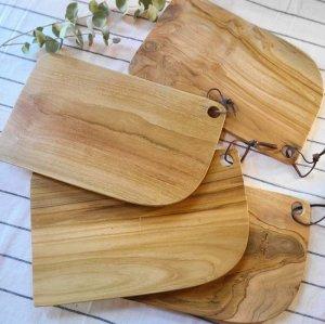 インドネシア・チーク・木製ウッド・カッティングボード・プレート