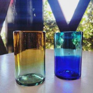 メキシコ手吹きガラス・グラス・グラデーションガラス