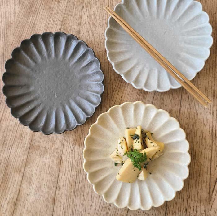 17cm菊型花プレート・取り皿・デザート皿 メインイメージ