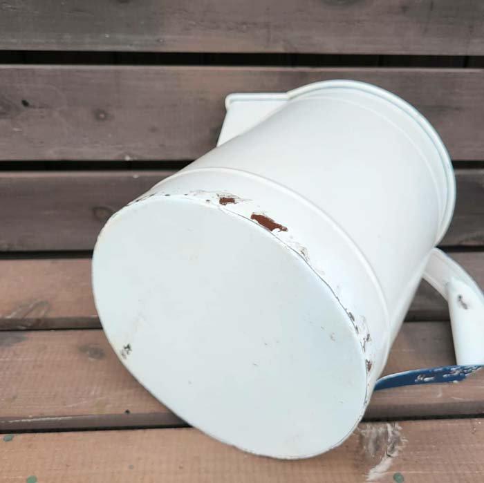 フラワーポット・ホワイト・アンティーク加工 サブイメージ