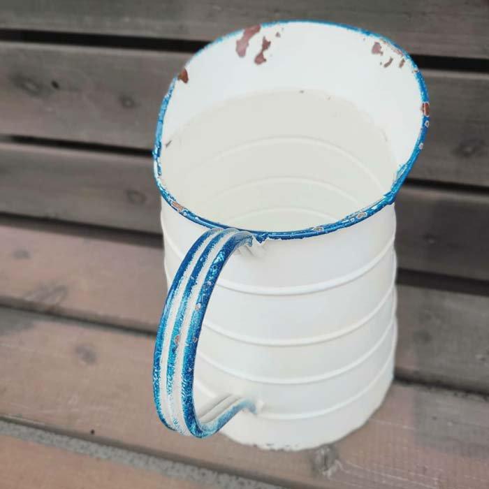 フラワーポット・ホワイトジャグ・アンティーク加工 サブイメージ