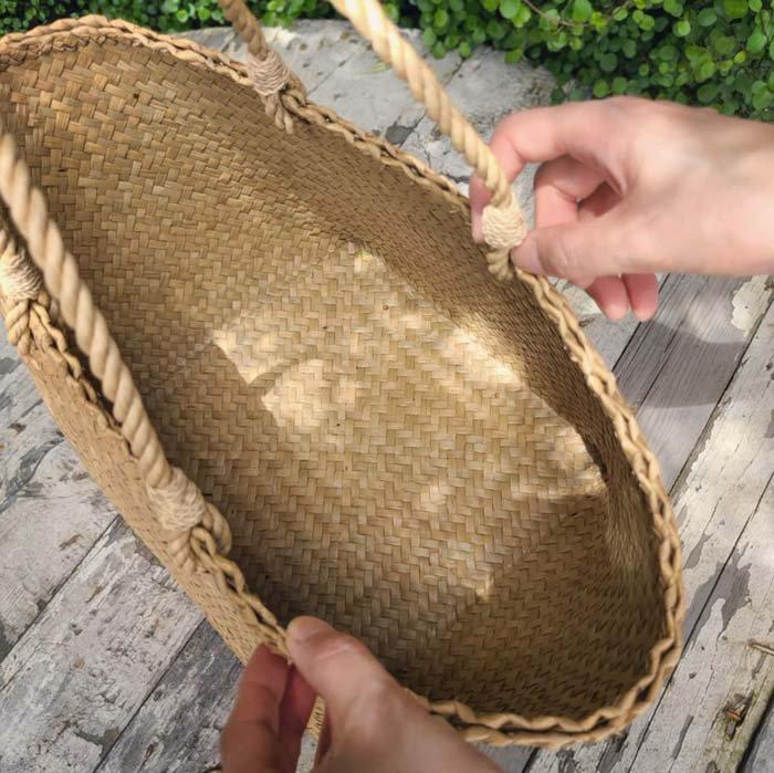タイ・カチュー・水草かごバッグ(L) サブイメージ