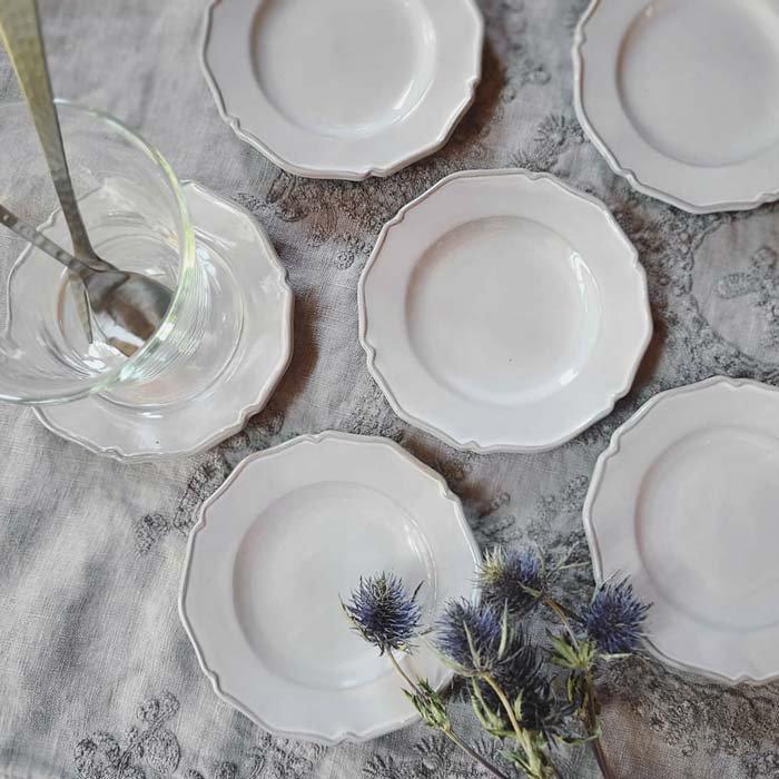 ニュアンスグレー・フリルプチプレート・小皿・豆皿・デザート皿 メインイメージ