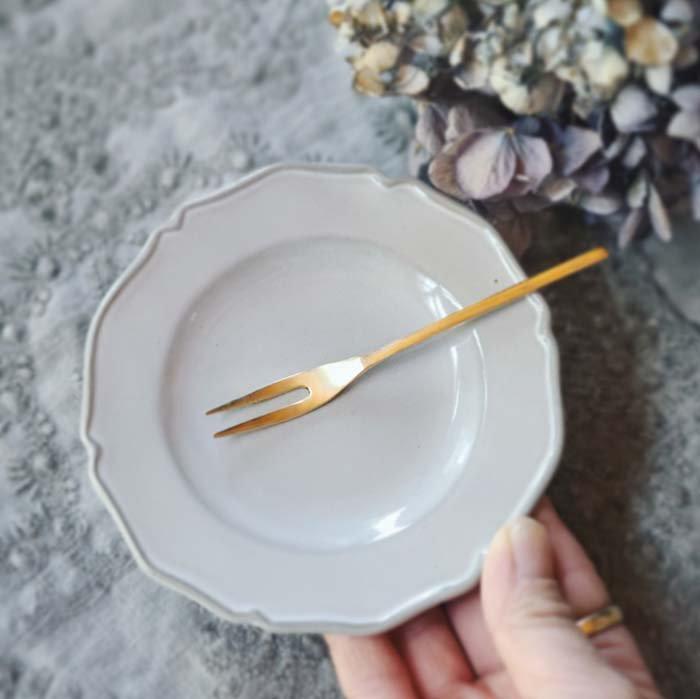 ニュアンスグレー・フリルプチプレート・小皿・豆皿・デザート皿 サブイメージ