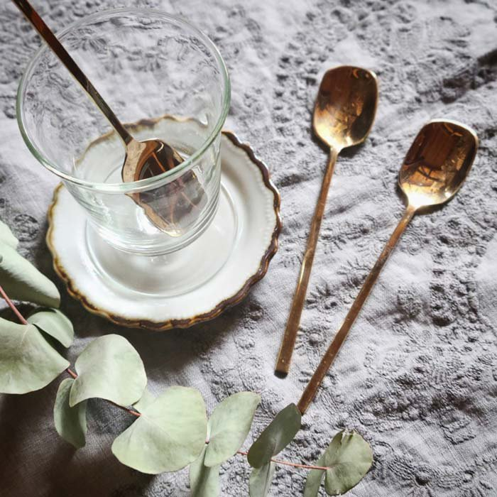 真鍮ブラス・パフェスプーン・デザートスプーン(M) メインイメージ