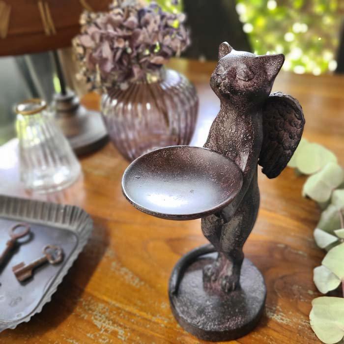 天使の猫・ネコ・オブジェ・猫トレイ メインイメージ