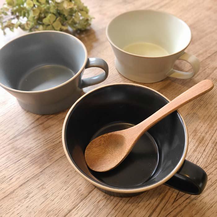 モノトーン・マット加工・シンプル・スープカップ サブイメージ