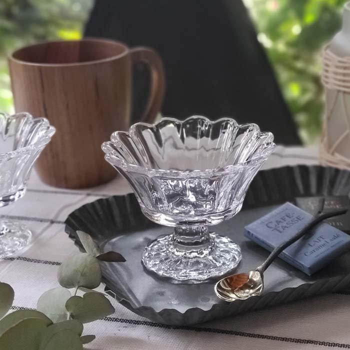 ガラスカップ・フリルカップ・ミニカップ・デザートグラス メインイメージ