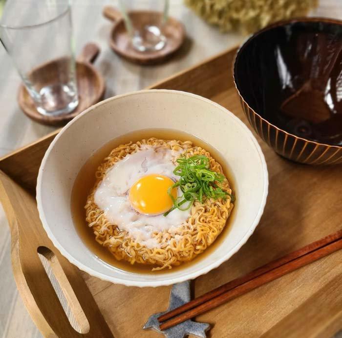 16cmどんぶり、丼、麺、サラダボウル、ホワイト、飴色ブラウン サブイメージ