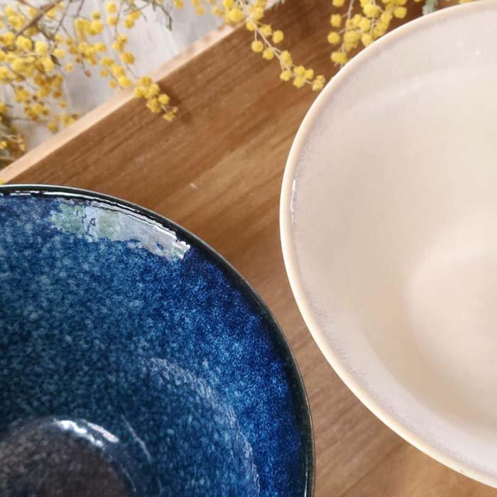 16cm丼ぶり、サラダボウル、麺どんぶり、ホワイト、藍ネイビー サブイメージ