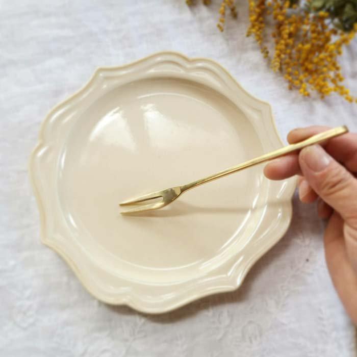 真鍮ブラス製・デザートフォーク サブイメージ