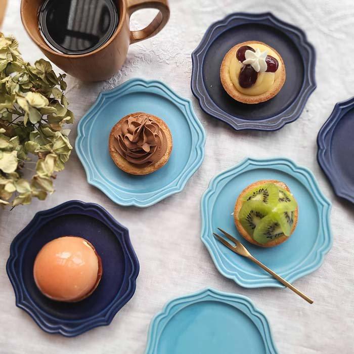 フリルスクエア・豆皿・小皿・デザートプレート・アンティーク調デザイン メインイメージ