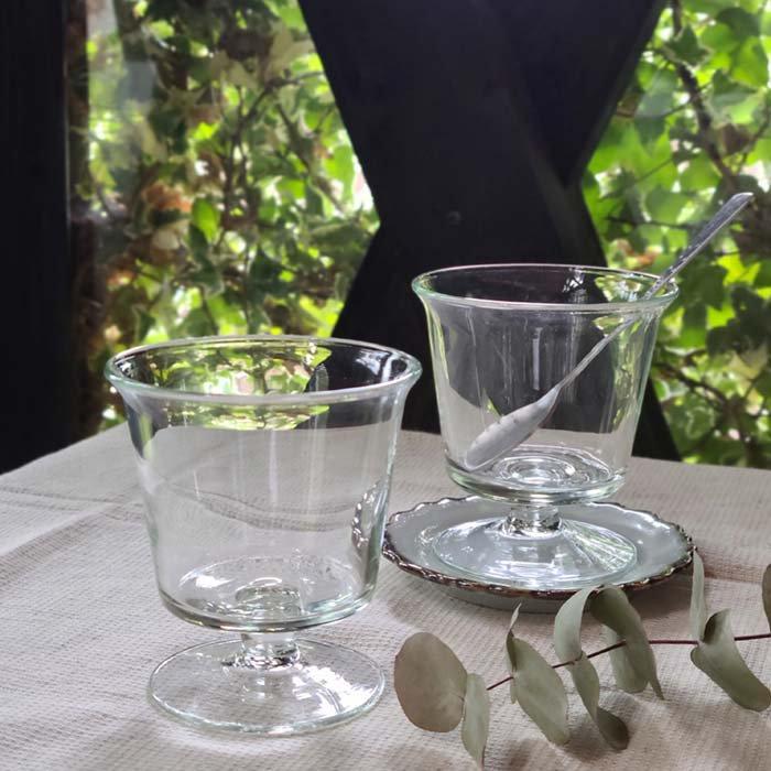 ミニパフェグラス・デザートグラス・リサイクルグラス・手吹きガラス メインイメージ