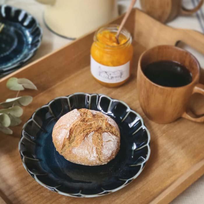 vintageフラワーシリーズ・花皿・藍色・ブルー・デザートプレート・パン皿・取り分け皿 メインイメージ