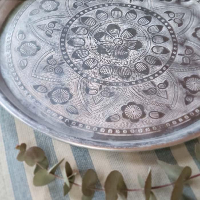 インド・アルミトレイ・ラウンドトレイ・エンボス加工 サブイメージ
