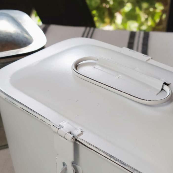 収納ケース・マスクケース・ふたつき・持ち手つき・(S)・シルバー・ホワイト サブイメージ