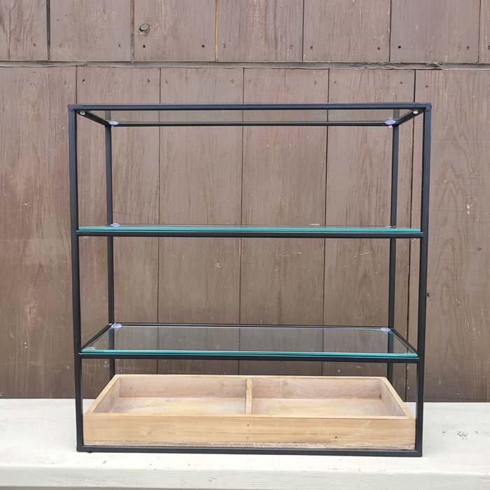 オープンシェルフ・コレクション棚・3段シェルフ(規格外につき特価品) サブイメージ