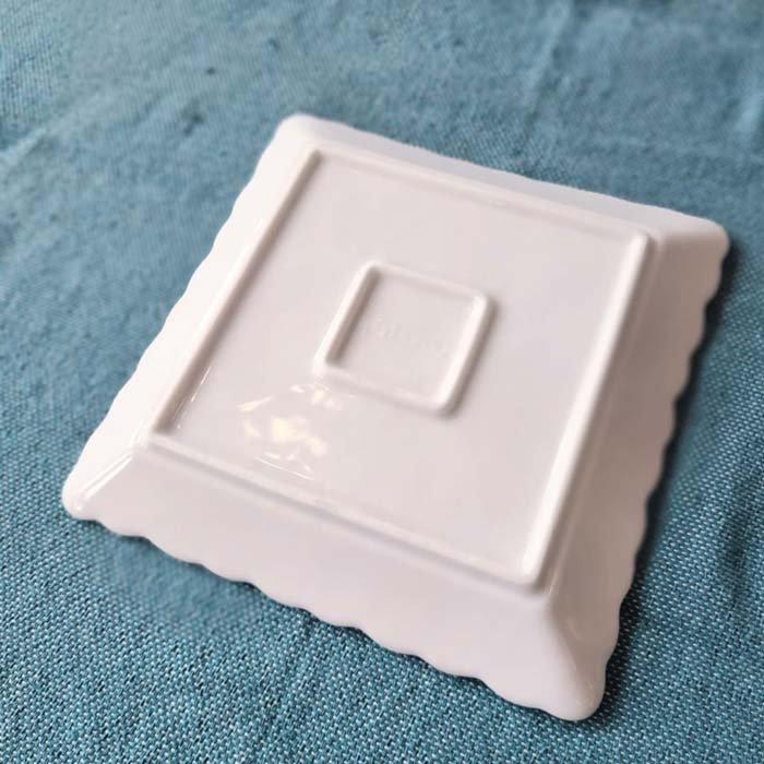 プルメリア・花・正方形スクエアプレート・17.8cm・美濃焼・白磁 サブイメージ