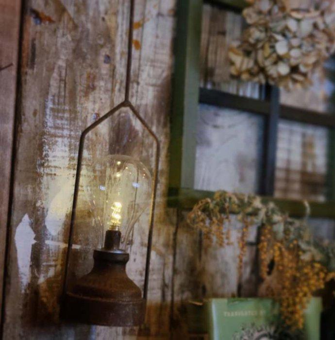 ヴィンテージ風ライト・LED・吊り下げライト M/持ち手が長め メインイメージ