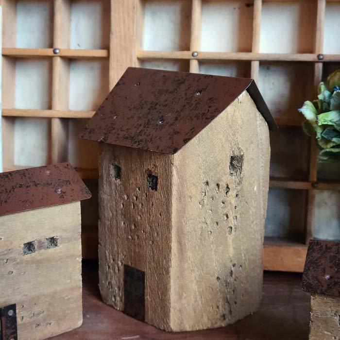 3個セット・ミニチュア木製ハウス・WOOD HOUSE・家・木・鉄 サブイメージ
