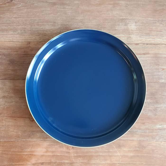 ブルー・マット加工・シンプル・プレート(L)・ディナープレート サブイメージ