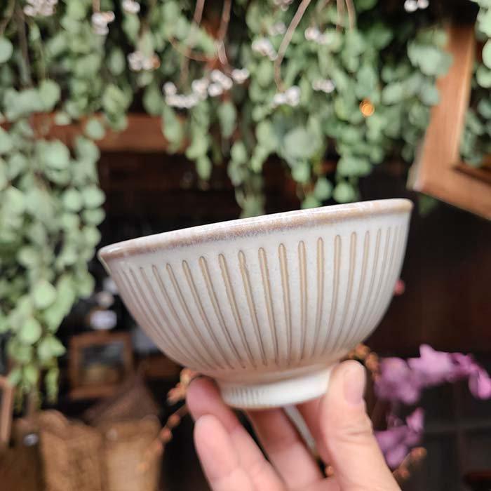撥水加工ラインシリーズ・ご飯茶碗・めし碗・器・ホワイト・藍 サブイメージ
