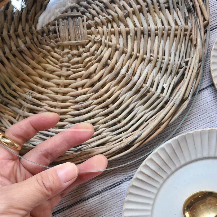 (Lサイズ)柳フードカバーセット・ガラスレイつき・ナチュラル サブイメージ