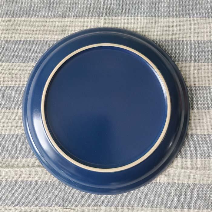 藍ブルー・マット加工・シンプル・プレート(M) サブイメージ