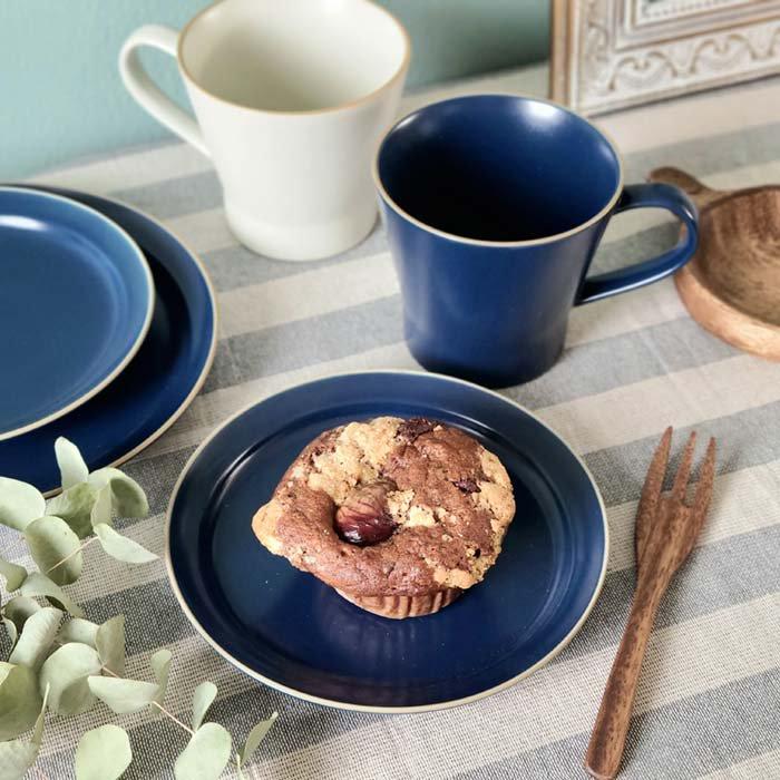 藍ブルー・マット加工・シンプル・プレート(S)・デザートプレート・取り皿 メインイメージ