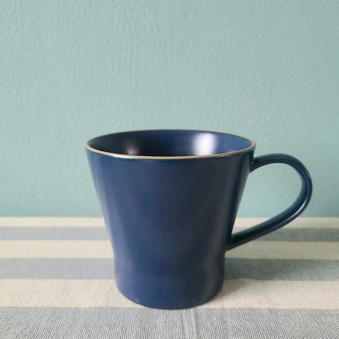 藍ブルー・マット加工・シンプル・マグカップ メインイメージ