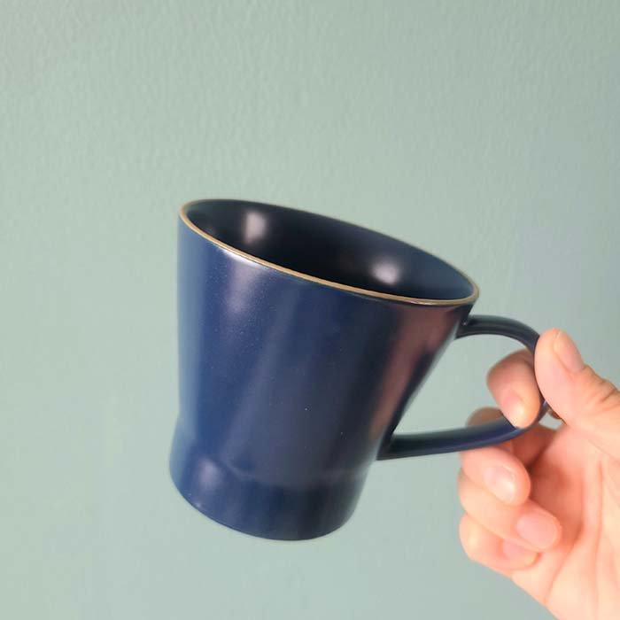 藍ブルー・マット加工・シンプル・マグカップ サブイメージ