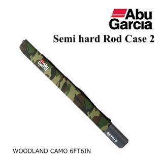 アブ ガルシア セミハード ロッドケース2 ウッドランドカモ 6'6 【本店特別価格】(お取り寄せ)