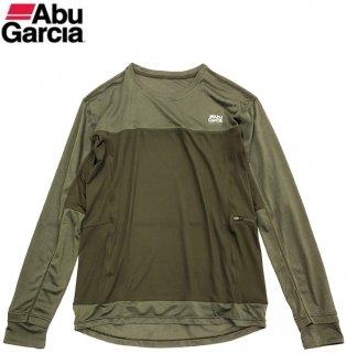 【セール】 アブ ガルシア スコーロン×接触冷感 ドライ長袖 Tシャツ オリーブ XL(LL)サイズ