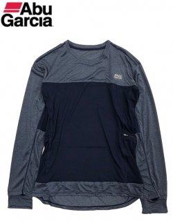 【セール】 アブ ガルシア スコーロン×接触冷感 ドライ長袖 Tシャツ ネイビー Lサイズ