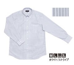 がまかつ ファスナーシャツ GM-3285 ホワイト/ストライプ Lサイズ (お取り寄せ商品) 【本店特別価格】