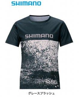 シマノ Tシャツ (半袖) SH-096T グレースプラッシュ Mサイズ (O01) (S01)