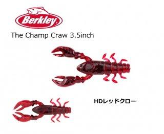 バークレイ チャンプクロー #HDレッドクロー 3.5インチ / ワーム ルアー (メール便可) 【本店特別価格】