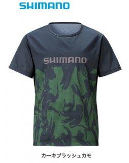 【セール】 シマノ Tシャツ (半袖) SH-096T カーキブラッシュカモ Mサイズ