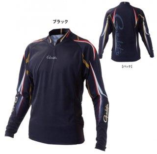 がまかつ ストレッチロングスリーブシャツ GM-3625 ブラック LLサイズ  (予約商品/2月発売予定)