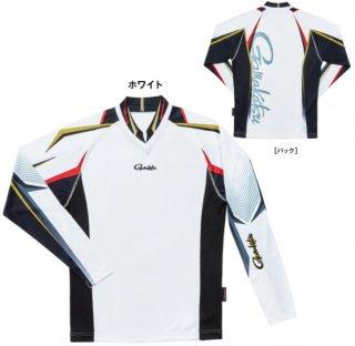 がまかつ ストレッチロングスリーブシャツ GM-3625 ホワイト Lサイズ  (予約商品/2月発売予定)