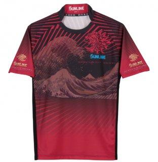 サンライン 驚愕PRODRYシャツ SUW-05504CW (半袖) レッド Mサイズ / ウェア (予約商品/4月発売予定) 【本店特別価格】