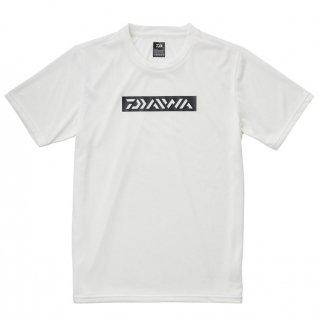 ダイワ ショートスリーブボックスロゴTシャツ DE-8621 ホワイト Mサイズ (O01) 【本店特別価格】