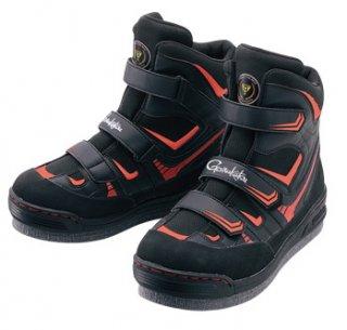 がまかつ フェルトスパイクシューズ パワータイプ GM-4514 ブラック×レッド 5Lサイズ / 磯靴 (お取り寄せ) (送料無料)