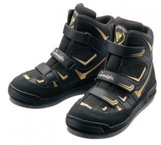 がまかつ フェルトスパイクシューズ パワータイプ GM-4514 ブラック×ゴールド 5Lサイズ / 磯靴 (お取り寄せ) (送料無料)