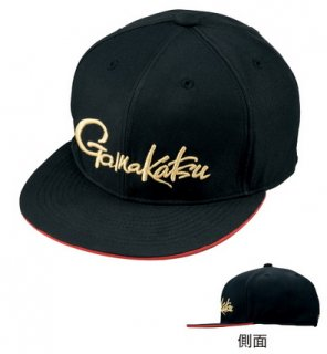 がまかつ フラットブリムキャップ (GAMAKATSU) GM-9883 ブラック LLサイズ / 帽子 (お取り寄せ)