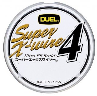 デュエル スーパーエックスワイヤー4 (0.8号 150m) シルバー / PEライン (O01) (メール便可)