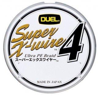 デュエル スーパーエックスワイヤー4 (1.5号 150m) シルバー / PEライン (O01) (メール便可)