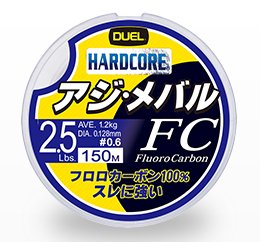 デュエル ハードコア アジ・メバル FC 150m 0.8号 3.0lb ナチュラルクリア / 道糸 ライン (メール便可) (O01)