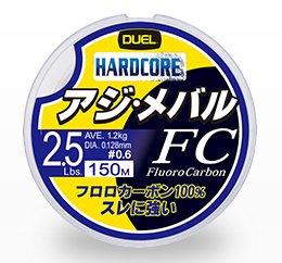 デュエル ハードコア アジ・メバル FC 150m 1号 4.0lb ナチュラルクリア / 道糸 ライン (メール便可) (O01)